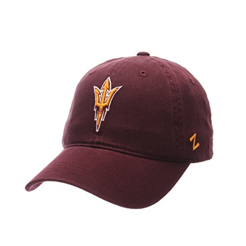 State Devils Arizona Sun Cap (Zephyr NCAA Arizona State Sun Devils Men's Scholarship Relaxed Cap, Adjustable, Maroon)