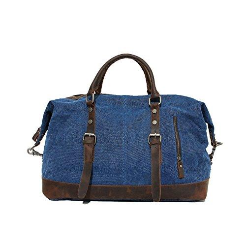 42 Deep 55 Vintage 23Cm Lona Handbag blue Escuela Senderismo Bolso De 55 Deep De Alpinismo Blue Bolso 23cm 42 Equitación Otomoll 6UfwqPxf