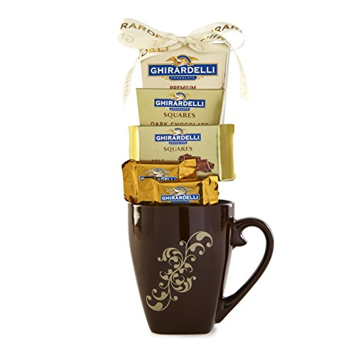 Ghirardelli Brown Mug Chocolate Gift Set - New...