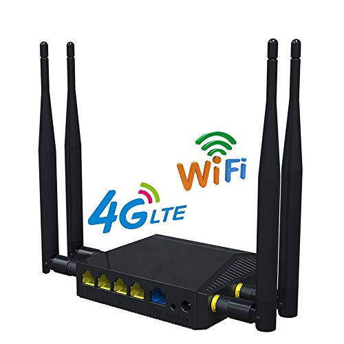 WiFi Routers for Wireless Internet Smart 4G LTE OpenWRT 300Mbps 3G Wireless Repeater AP Mode DHCP Function with SIM Card Slot (B2/B4/B5/B12/B13/B14/B66/B71 US Version)