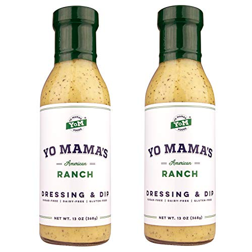 Keto Friendly Ranch Salad Dressing by Yo Mama's Foods - (2) 13 Ounce Bottles -...