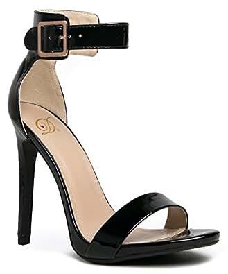 ENZO-01 / CANTER Sinlge Sole Open Toe High Heel Stiletto Ankle Strap Sandal