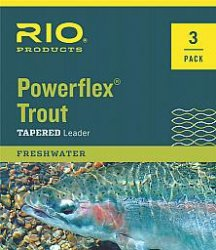 Rio: Powerflex Trout Leaders, 3 Pk, 9ft 4X