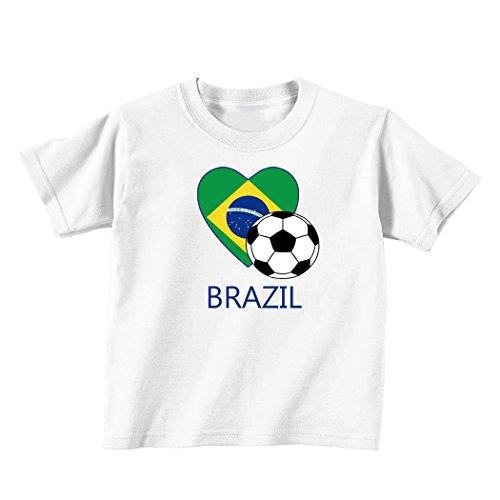Brazilian Soccer Brazil Futbol Football Baby Toddler Kid T-shirt Tee - 6mo Thru 7t - Shirts Brazil Football