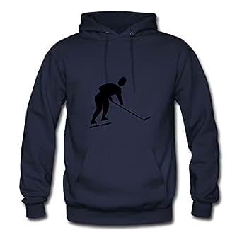 Hockey Player Bradfohod Sweatshirts Informal Women Lightweight Navy