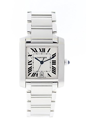 Cartier-Tank-automatic-self-wind-silver-mens-Watch-W51002Q3-Certified-Pre-owned