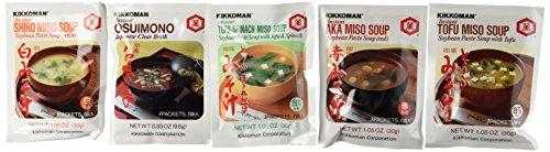 Kikkoman Instant Soup Miso Variety 5 -