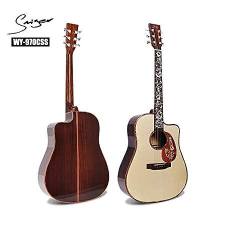 SUNXK 41 Pulgadas de Ancho único Guitarra acústica Spruce Clase ...