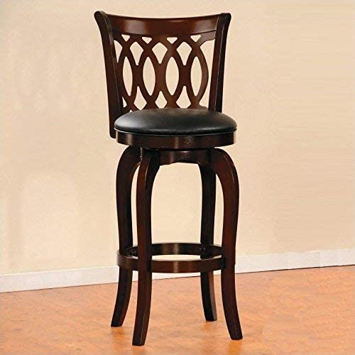 Homelegance Shapel Swivel Barstool, 29 SH, Cherry