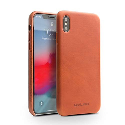 39bf3be7f75 Amazon.com  QIALINO Stylish Genuine Leather iPhone XS MAX Case ...