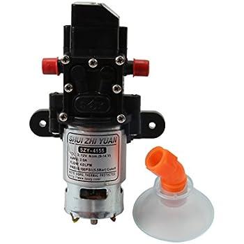 VerRich diaphragm pump,12V DC Fresh Water Pressure Water Pumps 70W 6A Spiral Interface Self Priming Sprayer Pump 6 L//Min 0.9MPA 131 PSI for RV Camper Marine Boat Garden