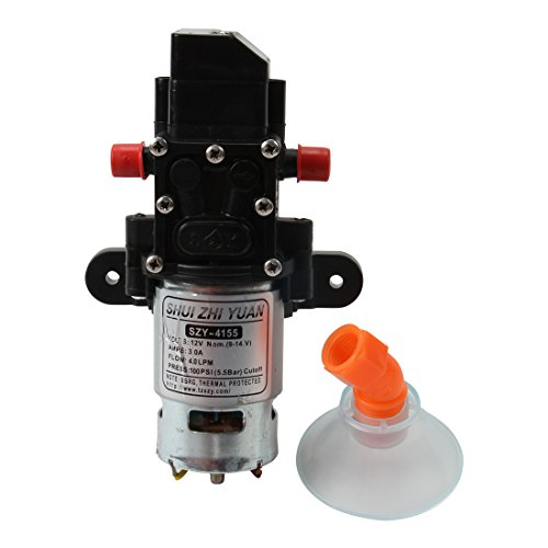 100PSI DC12V 3A 4L/Min Solid Electric Diaphragm Water Pump Self Priming for RV Boat