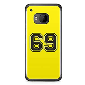 69 HTC One M9 Transparent Edge Case - Numbers Collection