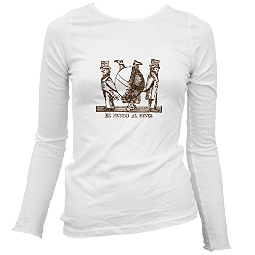 Smash Transit Women's El Mundo Al Reves Long Sleeve T-Shirt - White, XX-Large