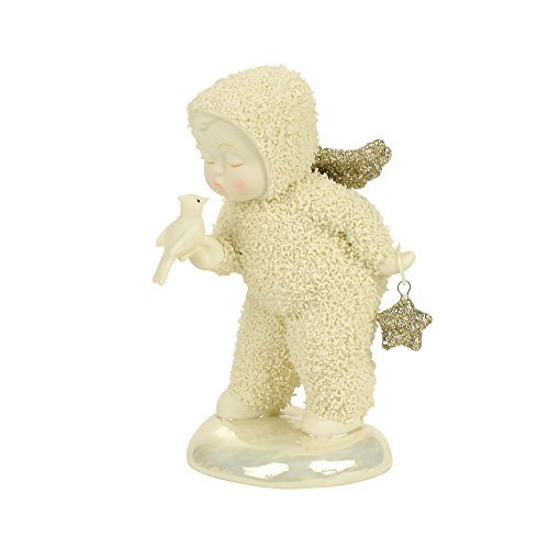 "Department 56 Snowbabies ""A Kiss for Luck"" Porcelain Figurine, 3.94"""