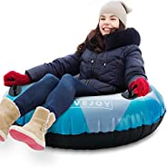 """FiveJoy Snow Tube 47"""" Large Snow Sled Inner Tube-with Repair Patch Kit-Winter Snow Toys for Kids-Heavy Du"""