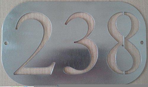 Mosaici Guizzo Numero civico in acciaio con fori (TRE CIFRE)