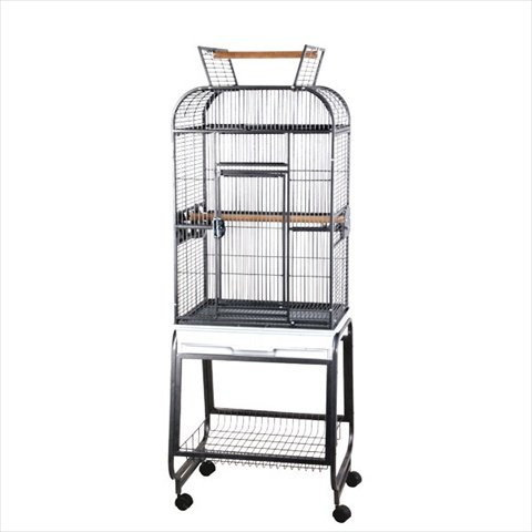 Black A&E Cage 732217 Black Play Top With Plastic Base