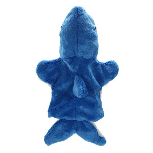 (chinatera Shark Hand Puppet Baby Kids Child Developmental Soft Doll Plush Toys (Blue))