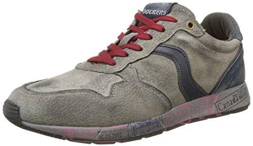 Dockers by Gerli 39so001-200200, Sneaker Basse Uomo Grigio (Grau (Grau 200))