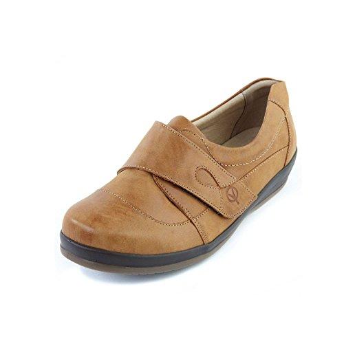 Sandpiper Damen Schuhe Farden | extra weite 4E-6E Größe | 3 in 1 einstellbare Weitenanpassung | Tiefe & Weite Zehentasche | Anti-Rutsch-Sohle | Hellbraun