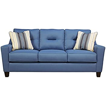 Amazon.com: benchcraft Forsan sofá en azul – 6690338 ...