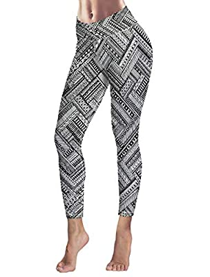 Women's Capris Printed Custom Leggings Unique National Geometry Pattern High Waist Yoga Running Workout Pants