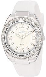 XOXO Women's XO8063 Rhinestones Accent White Silicone Strap Watch
