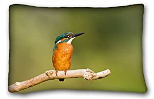 Custom Characteristic Animal Custom Cotton & Polyester Soft Rectangle Pillow Case Cover 20x30 inches (One Side) suitable for King-bed