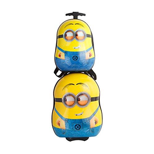 MOREFUN Kids Travel Luggage Set Rolling Pilot Suitcase Set for Boys Girls (Yellow)