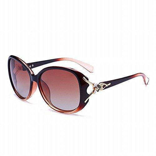 de Tamaño Sol Espejo Marco Gafas wei retrovisor Moda Sol de de Púrpura Gafas Un marrón UO5aCwxqa