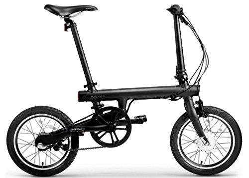 Bicycle Electric Folding Bike Black 250W 3-Speed, 16 Inch