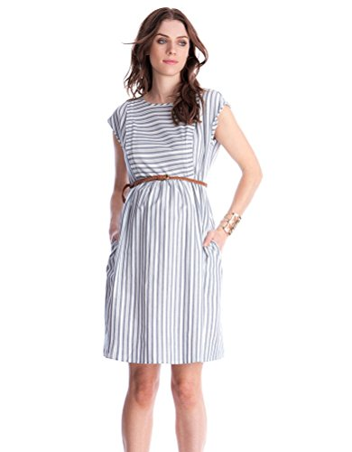Seraphine Women's Cotton Stripe Maternity & Nursing Dress Size 10