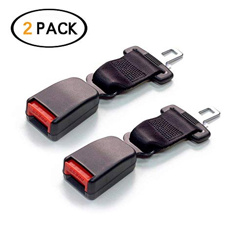Car Seat Belt Extender (2Pcs Black)