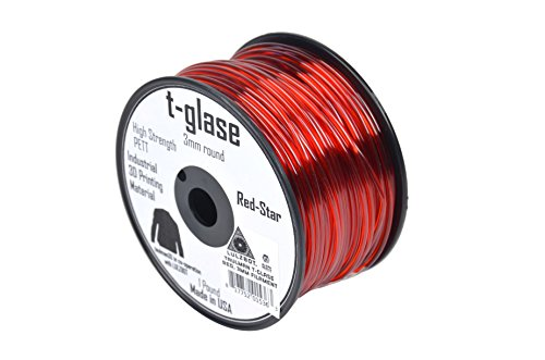 LulzBot Taulman T-Glase PET 3D Printer Filament, 1 lb. Reel, 3 mm, Red Supplies Taulman 3D