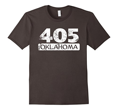 Vintage 405 Oklahoma City Area Code Distressed T-Shirt