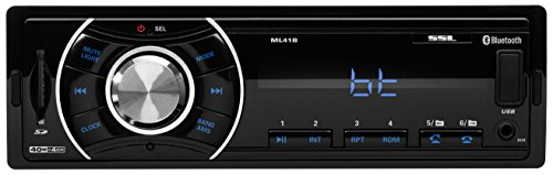 Sound Storm ML41B Single Din, Bluetooth, MP3/USB/SD FM Car Stereo, (No CD/DVD), Wireless Remote - Stores Chesterfield Outlet