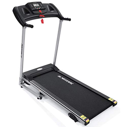 Cheap MaxKare Electric Treadmill Foldable 17 Wide Running Machine 3 Levels Manual Incline 1.5 HP Po...