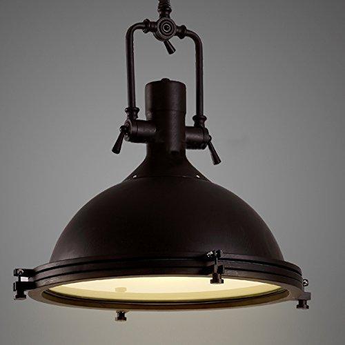 "Industrial Nautical Pendant Light-LITFAD 16"" Wide Single"