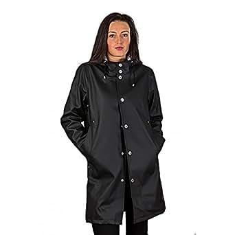 Raincoat for men and women - Stylish Vintage Urban Fisherman Style Rainwear - Icelandic Design - Size XS - Color Black