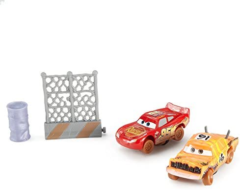 Cars 3-Pack de 2 Coches Crazy Push Over y Lightning Mcqueen ...