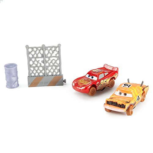 Disney Pixar Cars 3 Crazy 8 Crashers Pushover & Lightning McQueen Vehicle, 2 Pack
