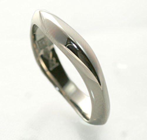 刻印無料 シンプル ハンドメイド マリッジ リング 結婚 指輪 PT1000 プラチナ シータ ペアリング 14号 [ジュエリー]