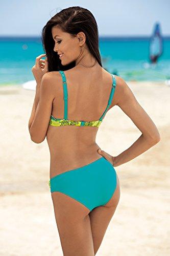 Damen Muster-01dke D1n32l1 Bikini Up Figurformender Push Feba
