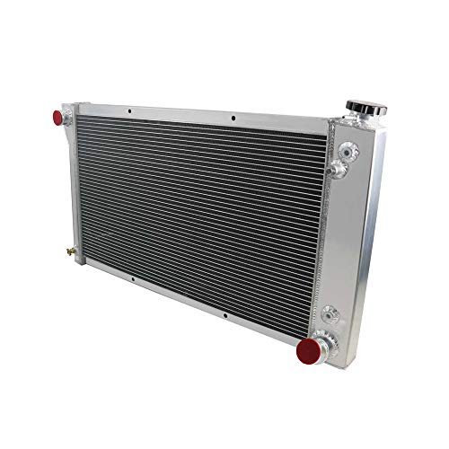 OzCoolingParts 67-72 Chevy & GMC C/K/P Series Radiator, 3 Row Core Aluminum Radiator For 1967-1972 1968 1969 70 71 Chevy Blazer C10 C20 C30 K15 K20 K30 P10 P20 P30 Pickup Truck L6 V8 Gas