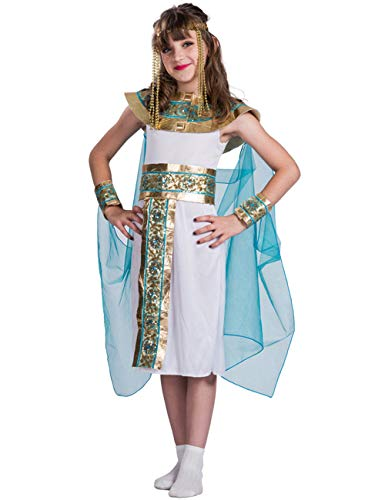 A&J DESIGN Kids Girls' Cleopatra Costume Queen of Egypt Dress(Cleopatra, S) -
