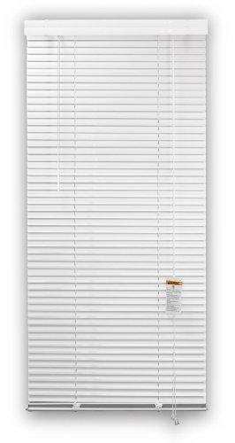 DEZ FURNISHINGS 28034 1-Inch Aluminum Blind, 31-Inch W X 60-Inch L, White