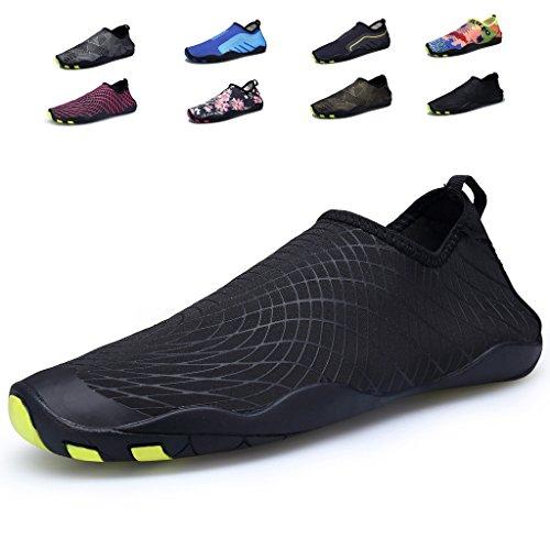 Cool walker Männer Frauen Kinder Wasser Schuhe Leichte Schnell Trocken Barfuß Aqua Sports Sneaker Für Strand Schwimmen Schwarzdruck