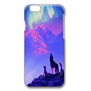 iPhone 6 Plus Case,Fashion Durable 3D DIY design for Apple iPhone 6 Plus(5.5 inch),PC material iPhone 6 Plus Cover ,Safeguard Phone from Damage ,Designed Specially Pattern from our Life with Wolves Baying at Northern Light Beautiful. by runtopwell