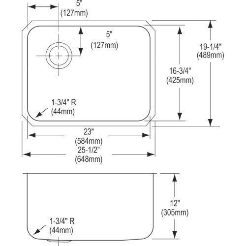 Elkay ELUH231712L Sink Stainless Steel